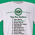 Personalized Top Ten Golf T-Shirt