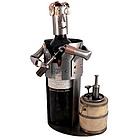 Handmade Sommelier Recycled Metal Wine Caddy