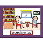 Psychologist / Counselor / Therapist Cartoon Print