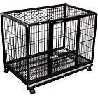 Portable Wheeled Dog Training Kennel Crate