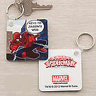 Personalized Spiderman Key Ring