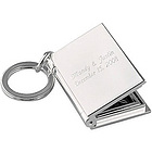 Engraved Silver Plated Picture Frame Keychain