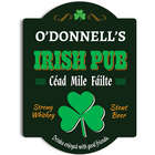 Hundred Thousand Welcomes Personalized Irish Pub Sign