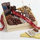 Chocolate Cravings Crate with Thank You Ribbon