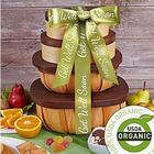 Organic Gift Tower with Get Well Ribbon