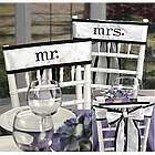 Mr. and Mrs. Chair Sash Set