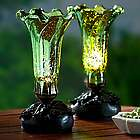 Handblown Flower Mercury Glass Lights