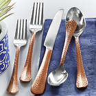 20 Piece Hammered Copper Flatware Set