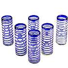 """Cobalt Spiral"" Highball Glasses"