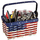 Patriotic Painted Utensil Caddy