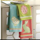 3 Cotton Easter Dishtowels