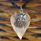 Hand Crafted Birch Bark Angel Necklace