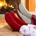 Ragg Wool Slipper Socks with Suede Outsole