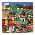 Street Market Applique Wall Hanging