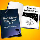 Personalized Why I Love You Anniversary Book