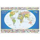 Laminated World Map for Kids