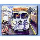 "Personalized ""Mark's House"" VW Bus Canvas Art"