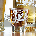 Personalized Man Cave Shot Glass