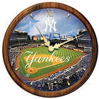 New York Yankees Day to Night Stained Glass Wall Clock