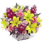 Bright Lights Basket Bouquet