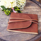 Personalized Rustic Leather Guest Book
