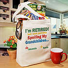 I'm Retired Spoiling My Grandkids Personalized Canvas Tote Bag