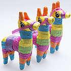 Mini Fiesta Donkey Pinatas