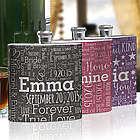 Bridesmaid Word-Art Flask