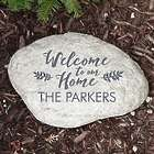 Personalized Welcome to Our Home Garden Stone
