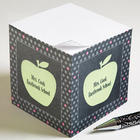 Teacher's Green Apple Personalized Note Cube