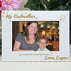 My Godmother Engraved White Picture Frame