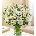 Sincerest Sorrow All White Bouquet