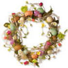 Easter Wreath with Eggs, Flowers, and Twigs