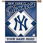New York Yankees Personalized Vertical Flag