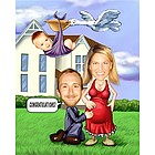 Parent's Joy Caricature from Photos
