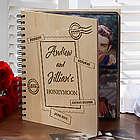 Personalized Maple Veneer Honeymoon Photo Album