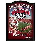 Wisconsin Badgers Personalized Welcome Sign Wall Decor