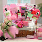 Sweet Blooms Spa Gift Basket with Flowers and Topped Handmade Bow