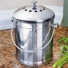 Stainless Steel 1-Gallon Compost Crock