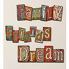 Dream, Family, or Friends Wall Plaque