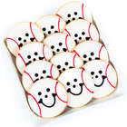 Dozen Baseball Smiley Cookies
