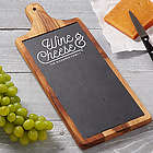 Wine and Cheese Board Personalized Slate and Wood Paddle