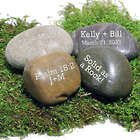 Personalized You Rock! Natural Beach Stone Paper Weight