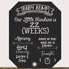 Baby Bump Pregnancy Countdown Chalkboard