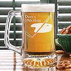 Golf Club Personalized Glass Beer Mug