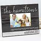 Personalized Rustic Family Love Picture Frame