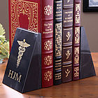 Caduceus Medical Marble Bookends