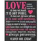 Love Is Bible Verse Canvas