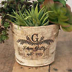 "Birch Bark 5"" Planter Vase Engraved Wedding Gift"