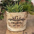"Birch Bark 5"" Planter Vase Engraved Wedding Gift"